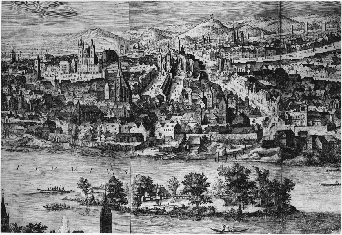 Staré město kolem r. 1600