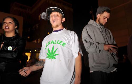 Příznivci legalizace marihuany v Kalifornii