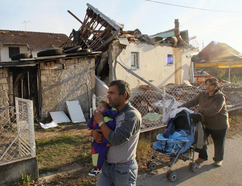 Následky zemětřesení v Srbsku