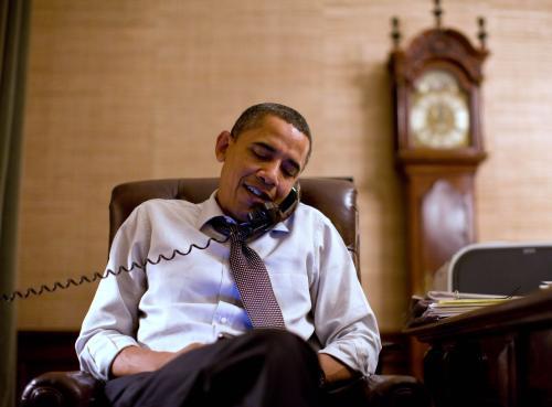 Barack Obama hovořil během volební noci s demokratickými kandidáty