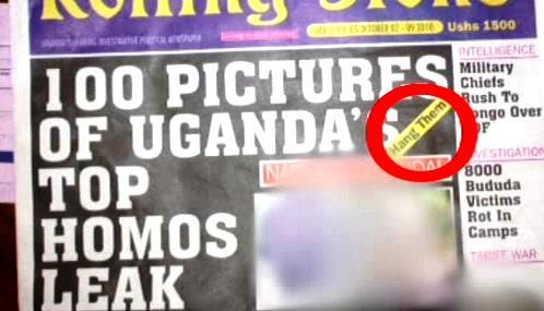 Ugandský list Rolling Stone otiskl seznam prominentních homosexuálů
