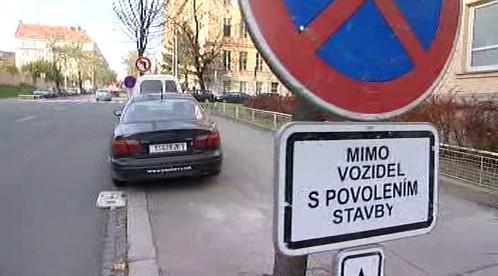 Zákaz parkování?
