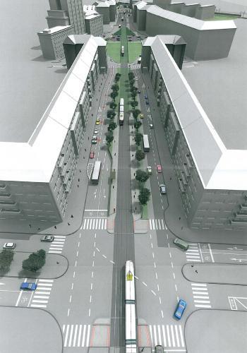 Projekt prodloužení tramvajové tratě