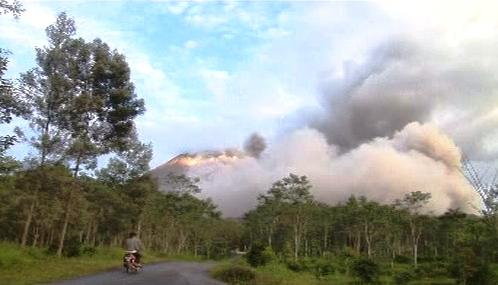Indonéská sopka Merapi