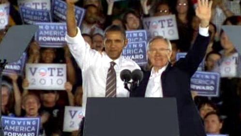 Barack Obama a Harry Reid