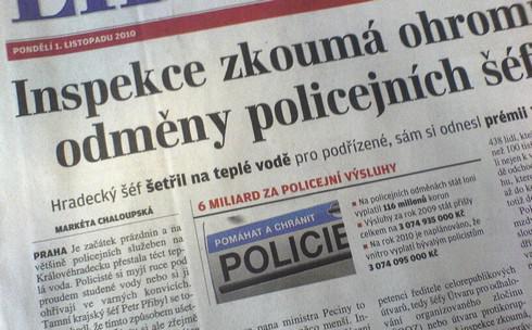 Inspekce zkoumá policejní odměny