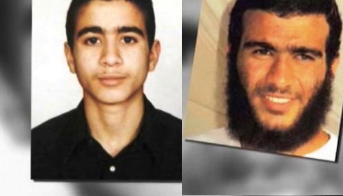 Omar Khadr v době zatčení a dnes