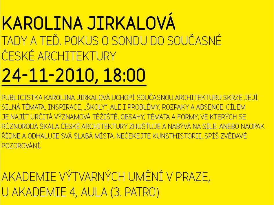 Středy na AVU / Karolina Jirkalová