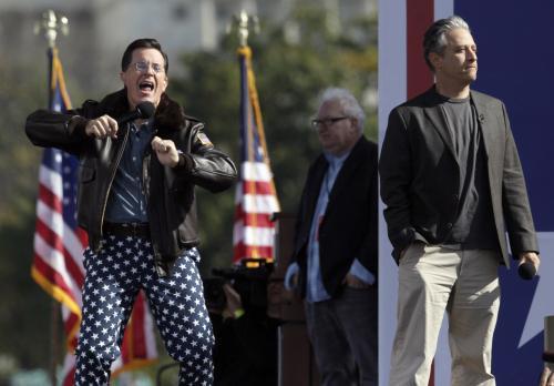 Stephen Colbert a Jon Stewart