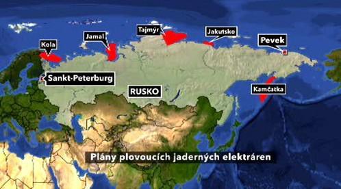Plány plovoucích jaderných elektráren