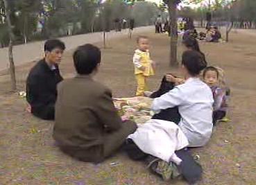 Korejská rodina pohromadě