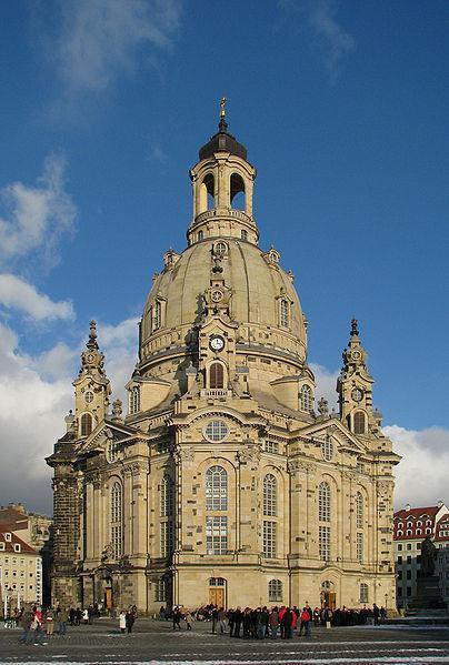Kostel Panny Marie, známý také jako Frauenkirche v roce 2010