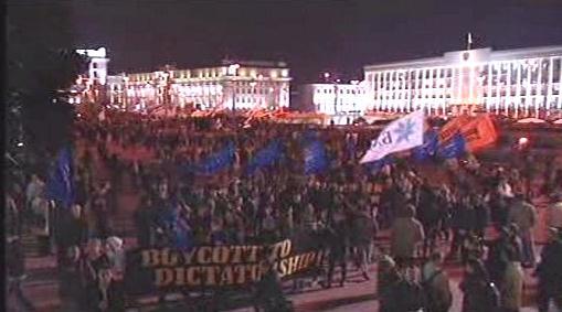 Demonstrace běloruské opozice