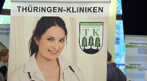 Poutač německé nemocnice