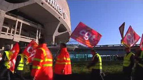 Blokáda letiště v Marseille