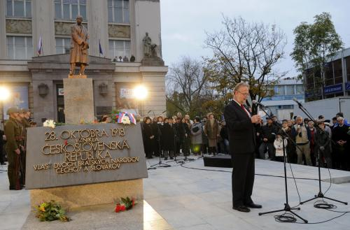 Odhalení sochy TGM v Bratislavě