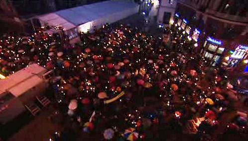 Vídeňský protest proti striktní rakouské azylové politice