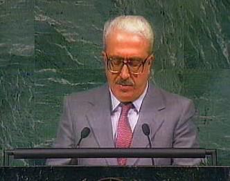 Tárik Azíz v OSN
