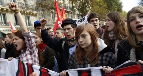 Protesty francouzských studentů