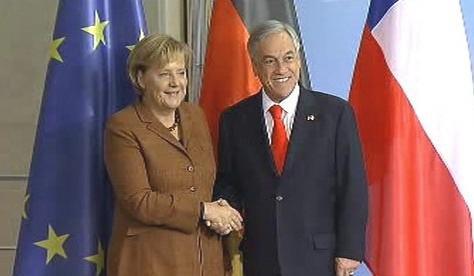 Chilský prezident na návštěvě Německa