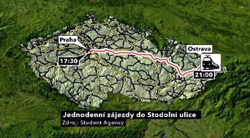 Zájezdy do Stodolní ulice v Ostravě