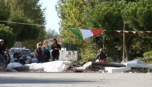 Protest proti skládce u Neapole