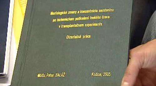 Dizertační práce Petera Baláže