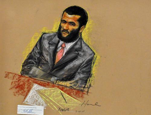 Omar Khadr při soudním přelíčení