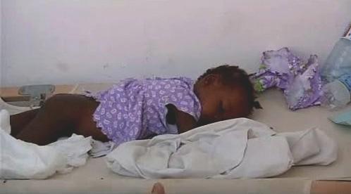 Nemocní na Haiti