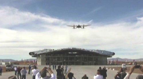 SpaceShipTwo při přistání