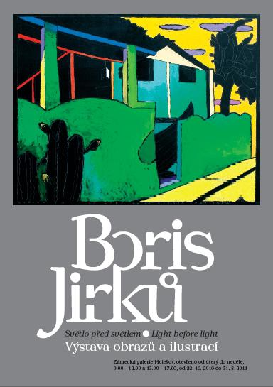 Plakát k výstavě Borise Jirků