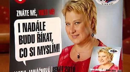 Leták Liany Janáčkové se sirkami