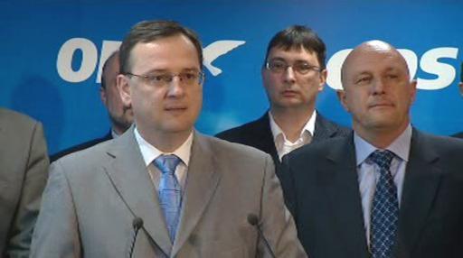 Petr Nečas s kandidáty do Senátu