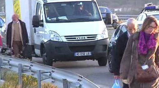 Zablokovaný příjezd na letiště v Marseille