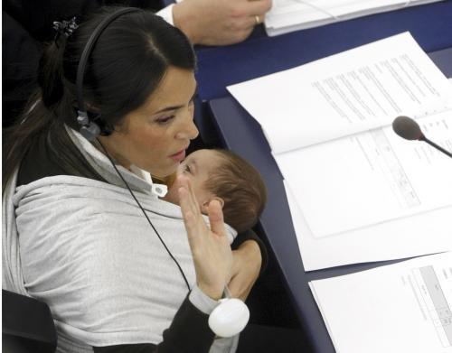 Europoslankyně s dítětem
