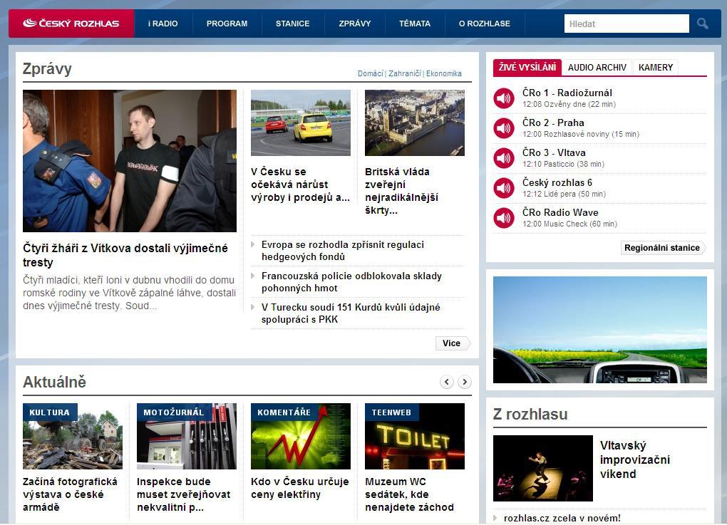 Web Českého rozhlasu