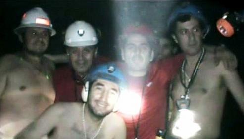 Chilští horníci