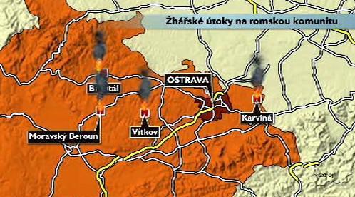 Žhářské útoky na romskou komunitu