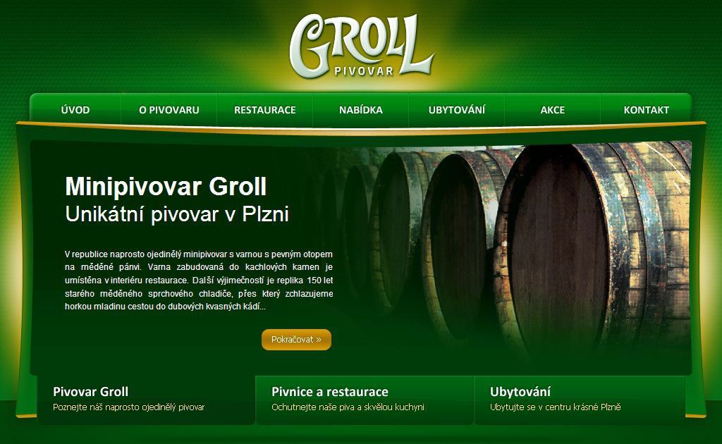 Web pivovaru Groll