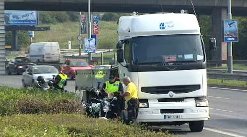 Policie zastavuje kamiony
