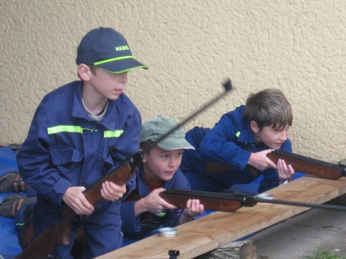 Soutěž Mladých hasičů - střelba
