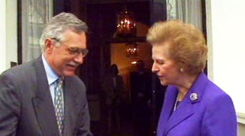 Václav Klaus a Margaret Thatcherová