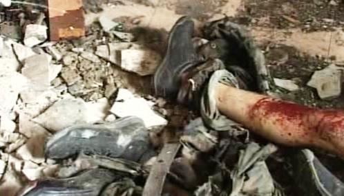 Následky teroristického útoku na budovu čečenského parlamentu