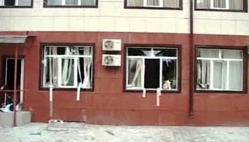 Budova čečenského parlamentu po teroristickém útoku