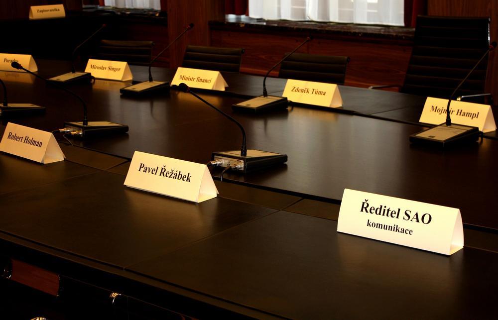 Zasedací síň bankovní rady ČNB