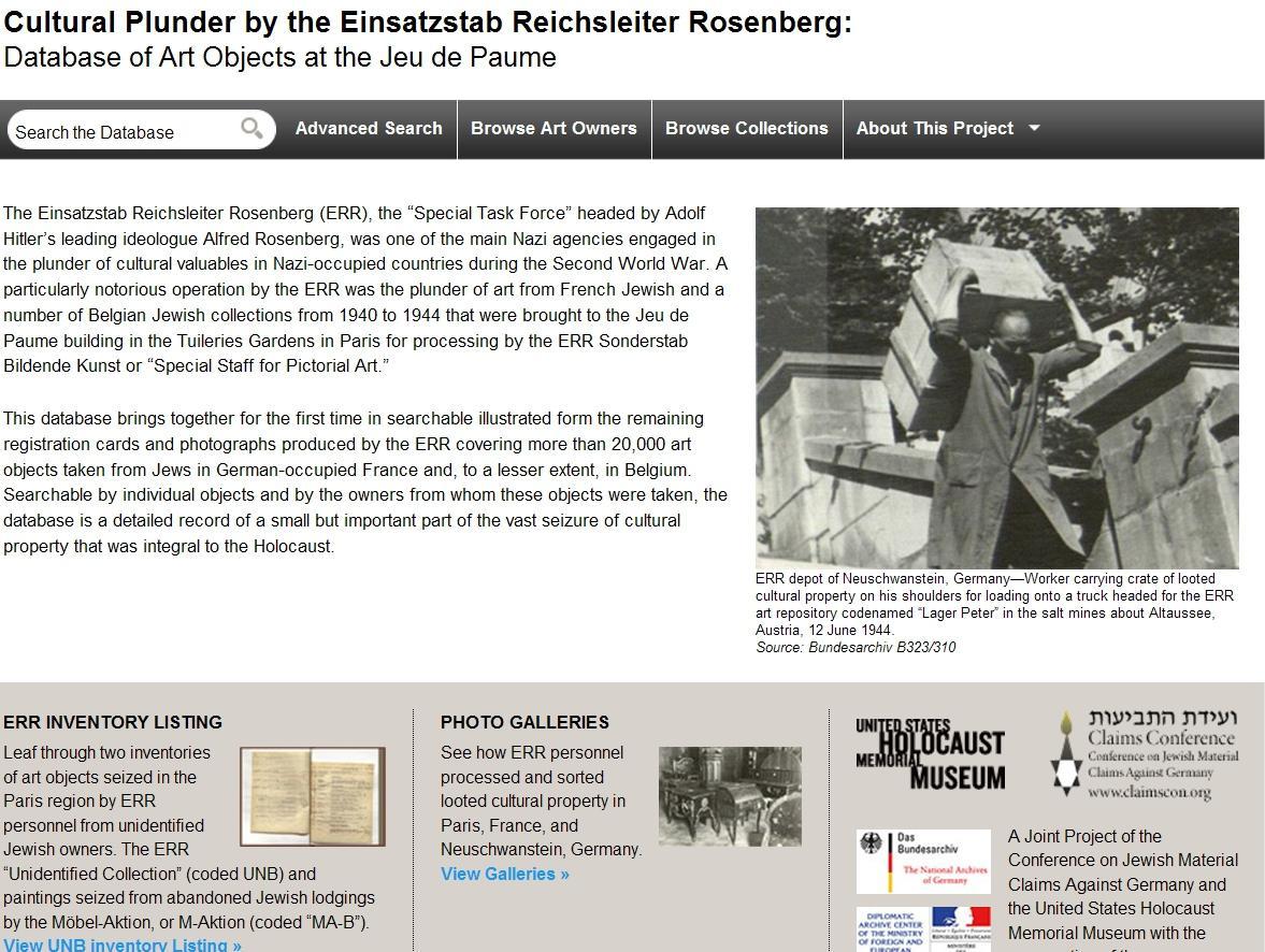 Databáze uměleckých děl uloupených nacisty Židům