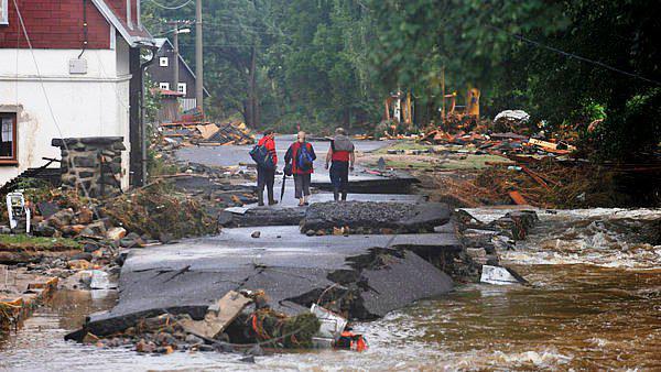 Povodňové škody v Heřmanicích