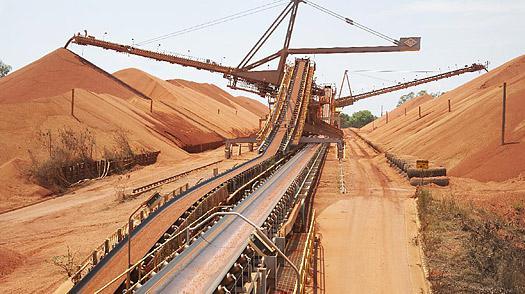 Těžba prováděná společností Rio Tinto