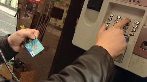 Volání z budky zaplacené kartou
