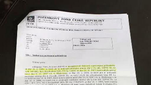 Dopis Pozemkového fondu